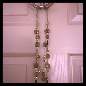 Multiple longer costume jewelry chains